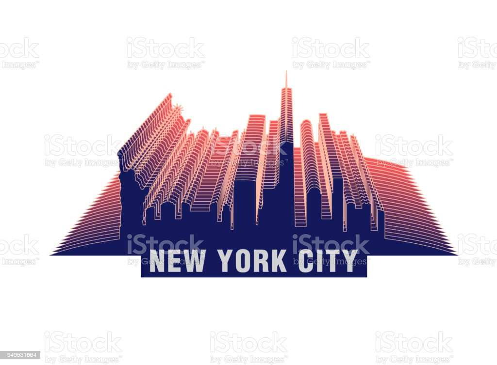 New York Skyline Stock Vector Art More Images Of Abstract Istock