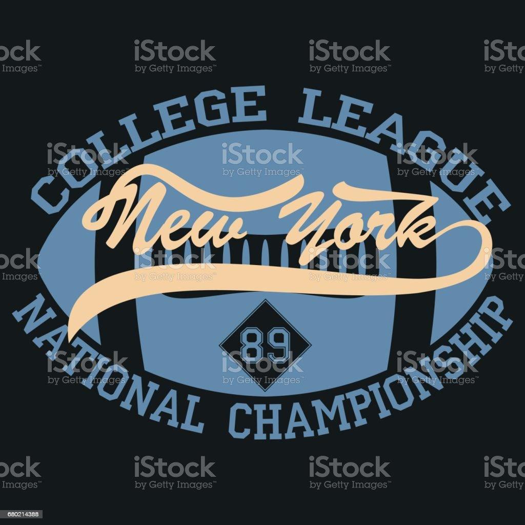 New York Sport Wear Typography Emblem American Footballvintage ... 4eac087a1