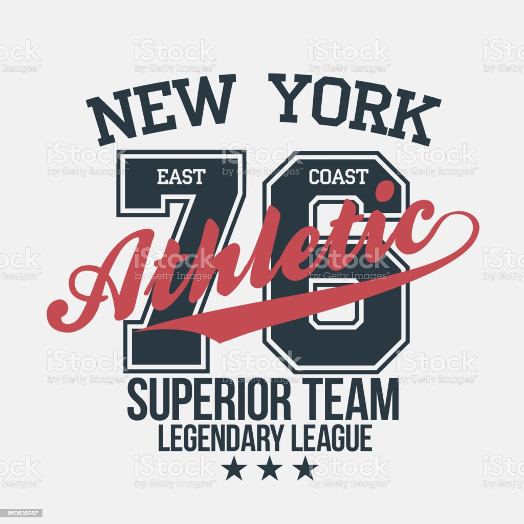 New York Sportswear Emblem Athletic University Apparel Design With