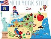 New York State Cartoon map