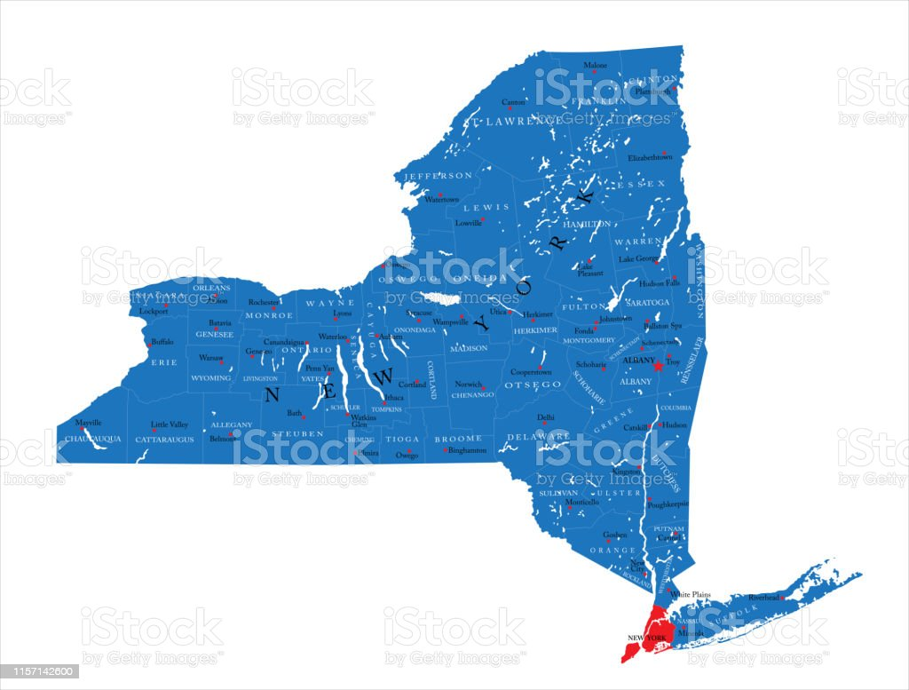 Picture of: New York State Political Map Stock Illustration Download Image Now Istock