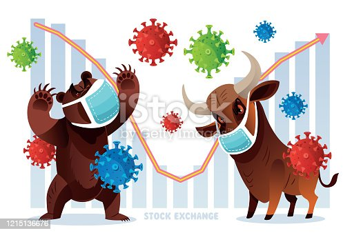 Vector New York stock exchange, Bull and Bear