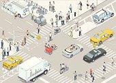 New York Street Illustration