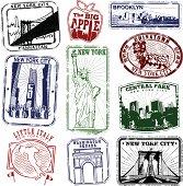 New York Super Retro Stamps