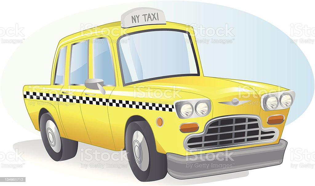 New York Taxi vector art illustration