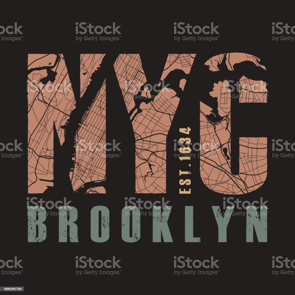 New York tee print. Vector illustration. vector art illustration