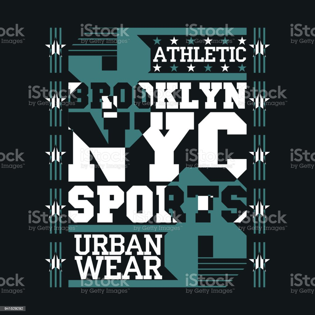 New York typography, design graphic, t-shirt printing man NYC vector art illustration