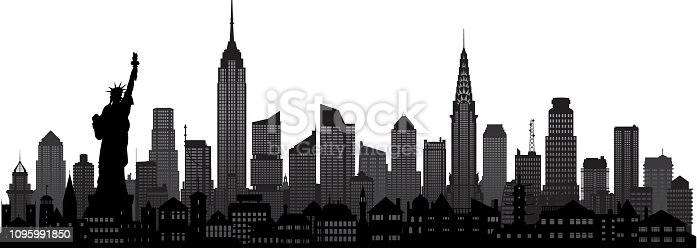 New York City. All buildings are moveable and complete.
