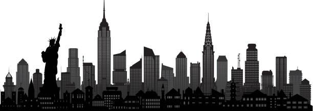illustrations, cliparts, dessins animés et icônes de new york (tous les bâtiments sont mobiles et complète) - new york