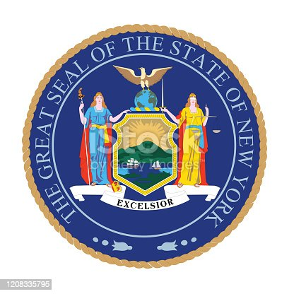 Vector of New York seal flag.