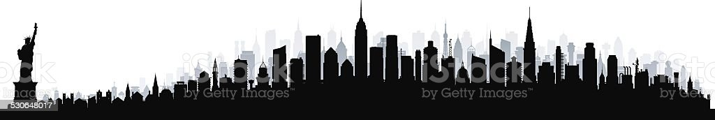 New York (Buildings Can Be Moved) vector art illustration