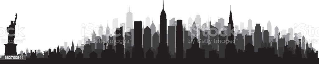 New York (All Buildings Are Moveable and Complete) vector art illustration