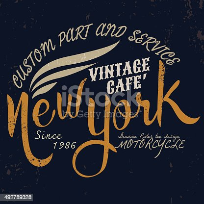 new york vintage motor typographic for t-shirt design,tee graphi