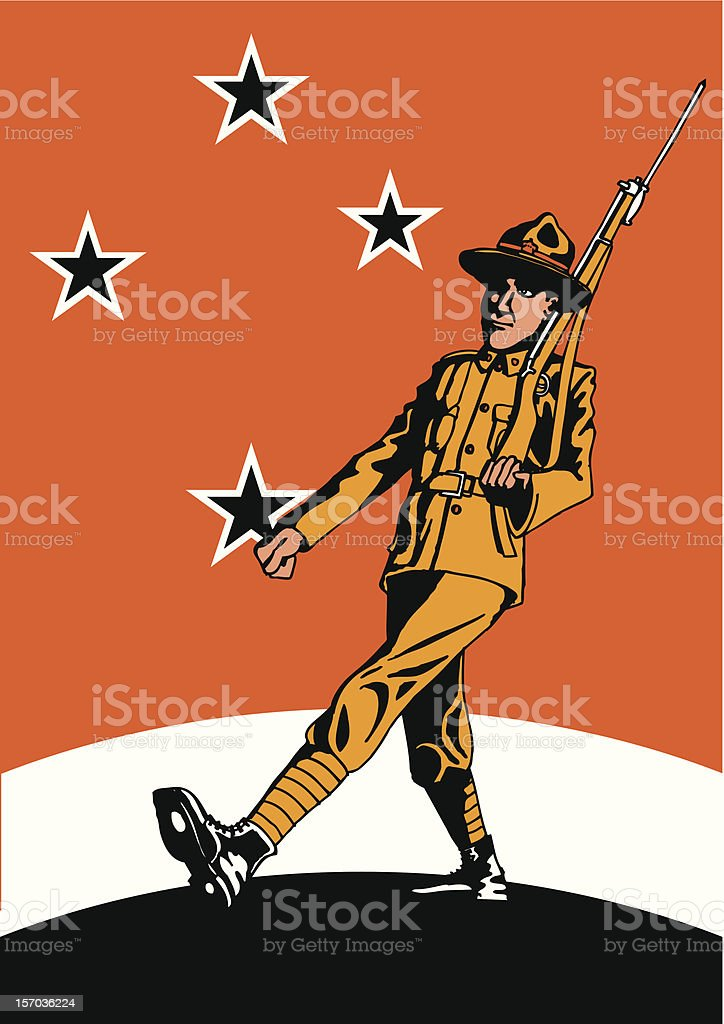 New Zealand ANZAC Soldier royalty-free stock vector art