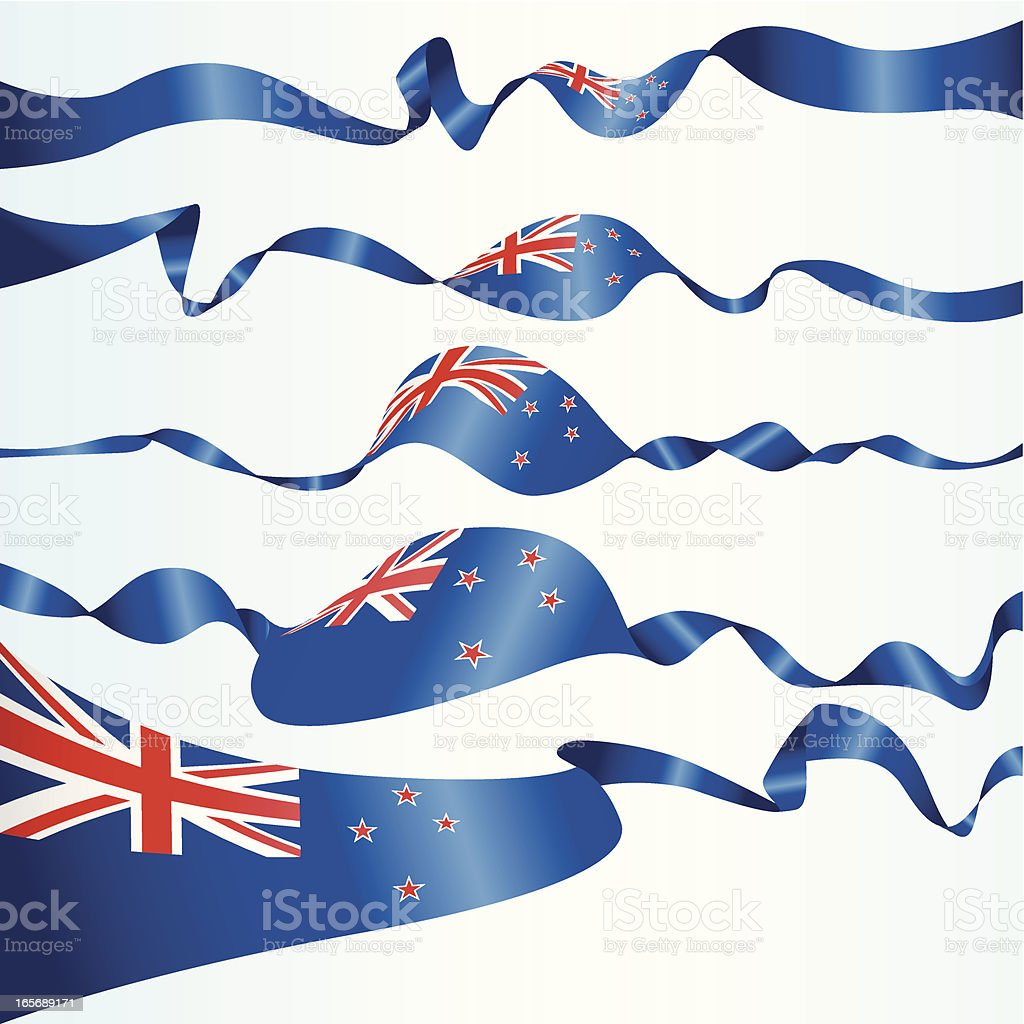 New Zealand Banners royalty-free stock vector art