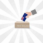 New Zealand Elections Vote Box Vector Work