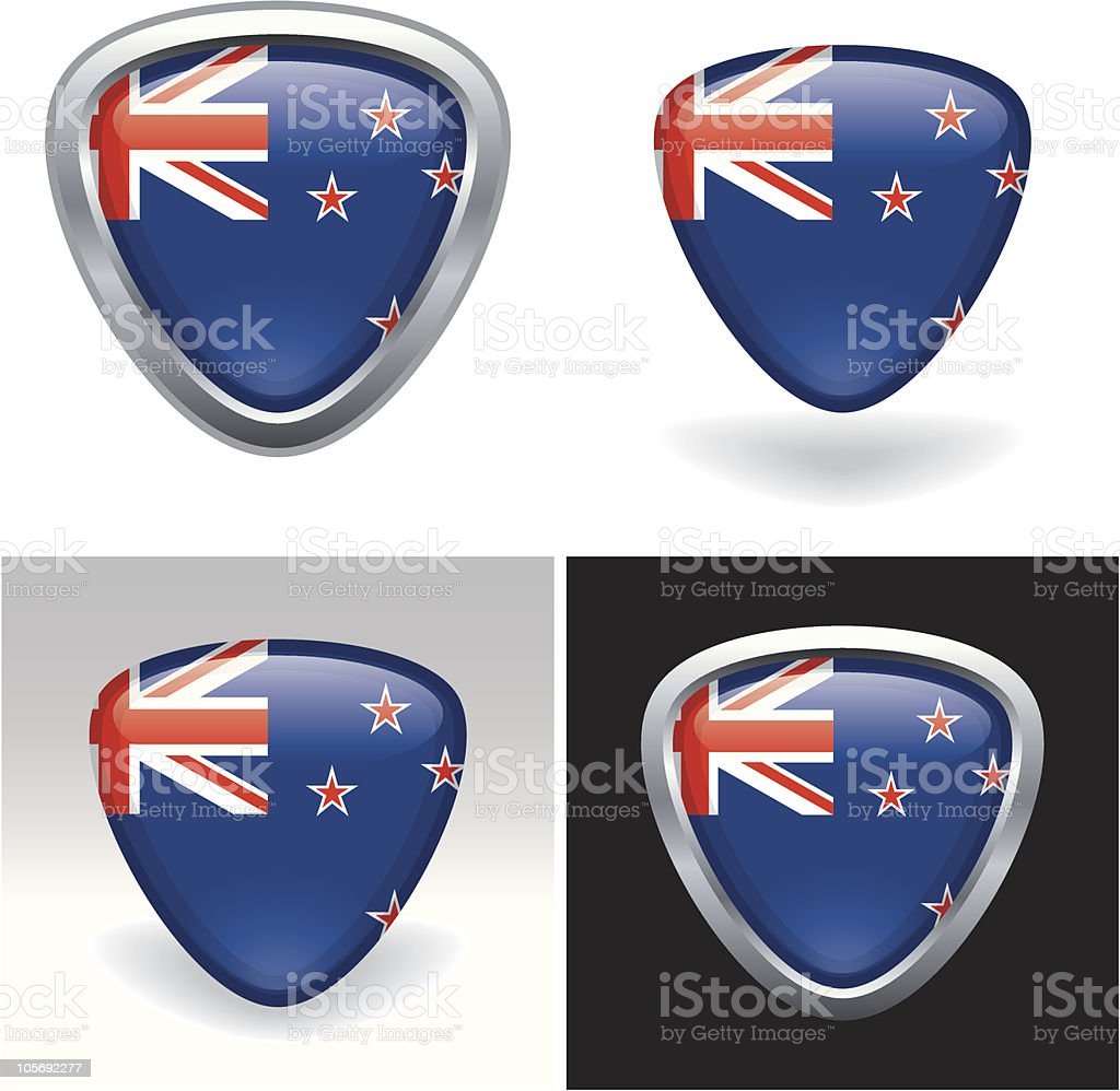 New Zealand Flag Crest royalty-free stock vector art