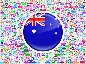 New Zealand Flag on royalty free vector Family interface icon Pattern. This vector art background features family stick figures of men, women, seniors and children. The colorful pattern can be used for love and relationship concepts. File download includes vector art and jpg file.
