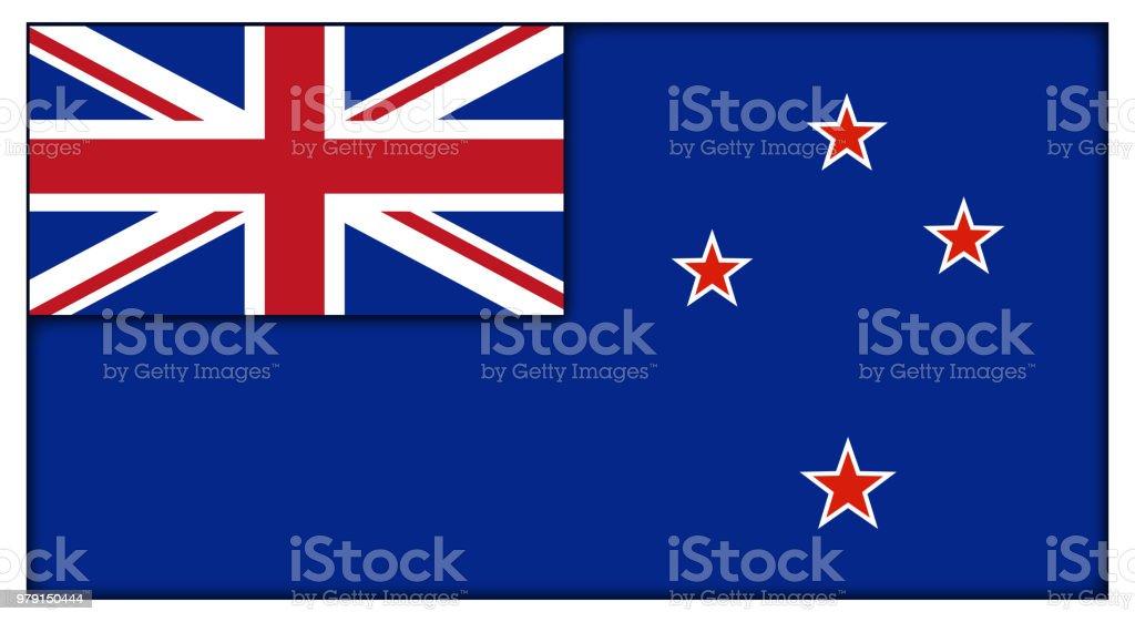 Bandeira Neozelandesa - ilustração de arte em vetor