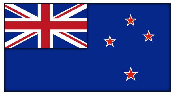 ilustrações, clipart, desenhos animados e ícones de bandeira neozelandesa - bandeira union jack