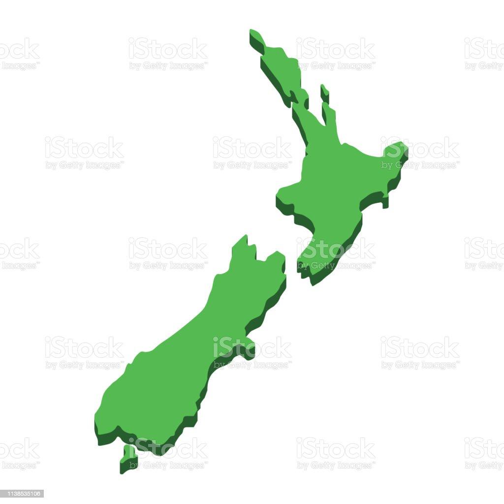 Ilustracion De Mapa De Nueva Zelanda Silueta Nueva Zelanda Isla