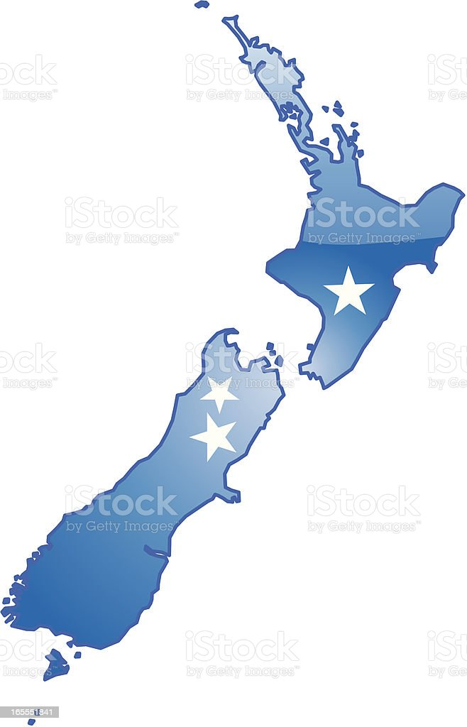 New Zealand Map royalty-free new zealand map stock vector art & more images of blue