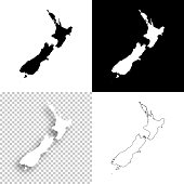 Map of New Zealand for your own design. With space for your text and your background. Four maps included in the bundle: - One black map on a white background. - One blank map on a black background. - One white map with shadow on a blank background (for easy change background or texture). - One blank map with only a thin black outline (in a line art style). The layers are named to facilitate your customization. Vector Illustration (EPS10, well layered and grouped). Easy to edit, manipulate, resize or colorize. Please do not hesitate to contact me if you have any questions, or need to customise the illustration. http://www.istockphoto.com/portfolio/bgblue