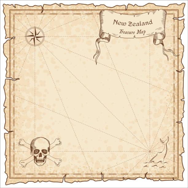 ilustrações, clipart, desenhos animados e ícones de mapa antigo do pirata de nova zelândia. - mapas de tesouro