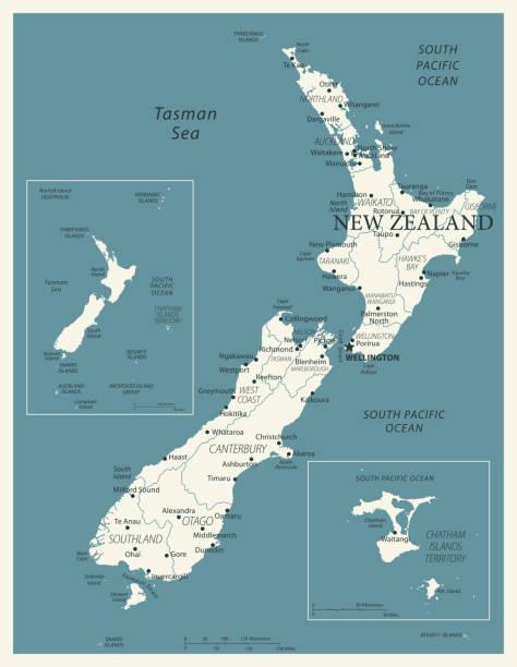 stockillustraties, clipart, cartoons en iconen met 24 - nieuw-zeeland - vintage murena geïsoleerd 10 - den haag