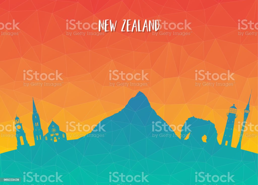 New Zeland Landmark Global Travel And Journey paper background. Vector Design Template.used for your advertisement, book, banner, template, travel business or presentation. royalty-free new zeland landmark global travel and journey paper background vector design templateused for your advertisement book banner template travel business or presentation stock vector art & more images of architecture