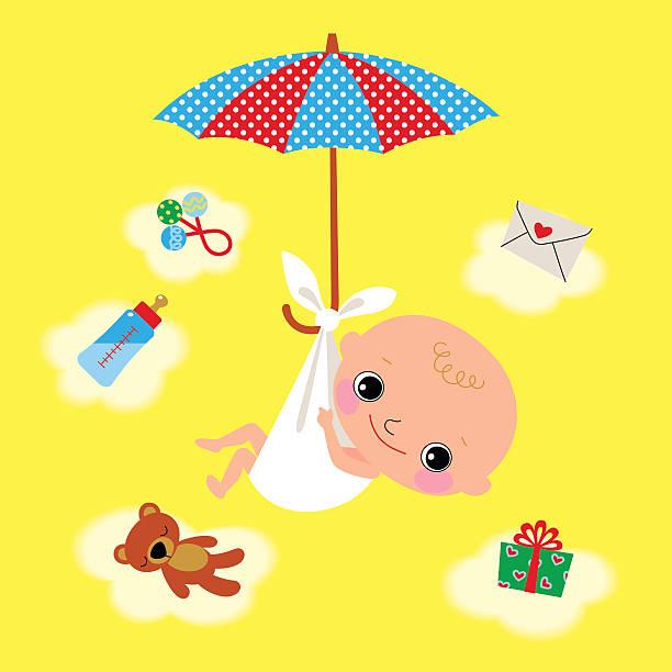 新生児、パラソル。 - 出産点のイラスト素材/クリップアート素材/マンガ素材/アイコン素材