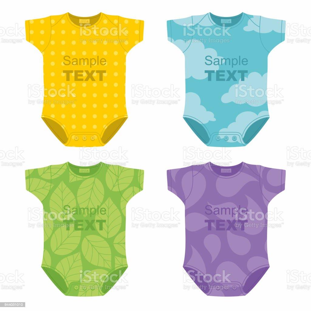 Newborn baby clothes vector art illustration
