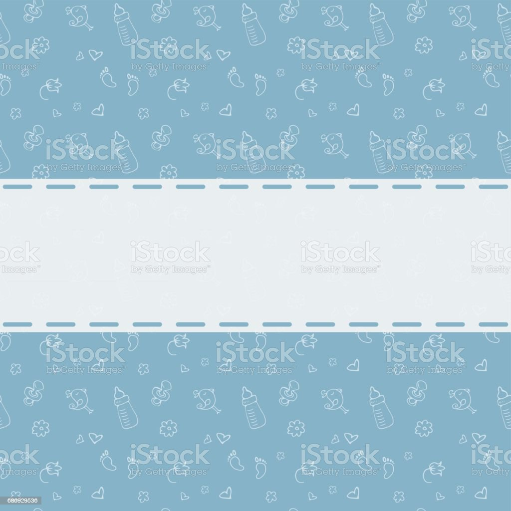 Neugeborenen Hintergrund Mit Platz Für Text Babydusche Gruß Ca Stock ...