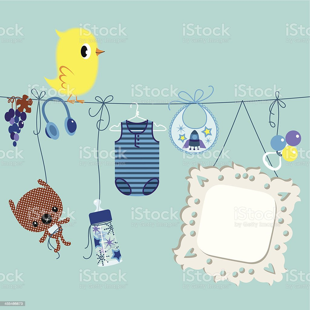 Newborn Boy. royalty-free stock vector art