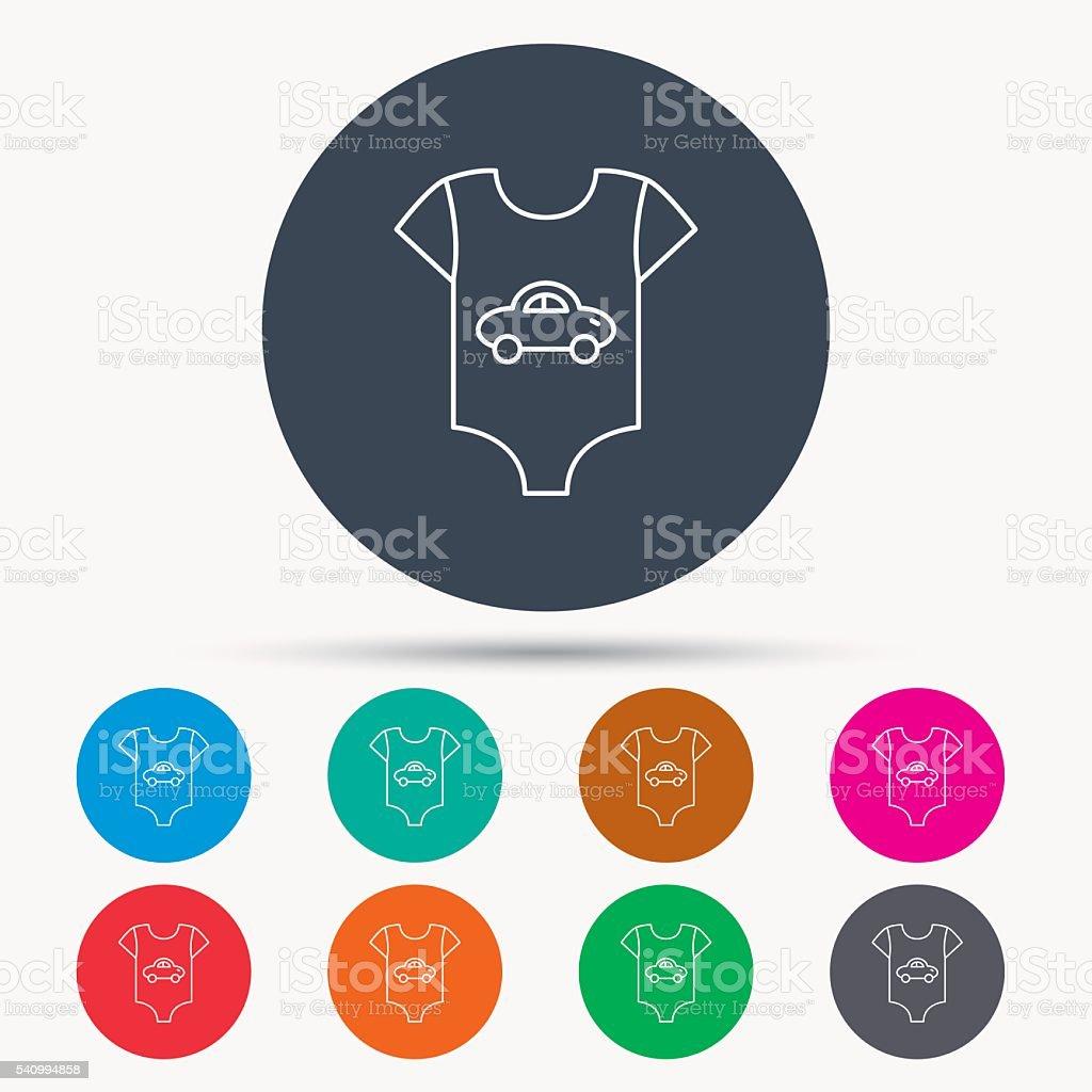 Newborn clothes icon. Baby shirt wear sign. vector art illustration