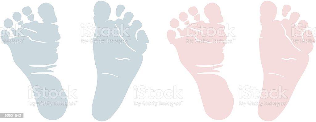 Newborn Footprints royalty-free stock vector art