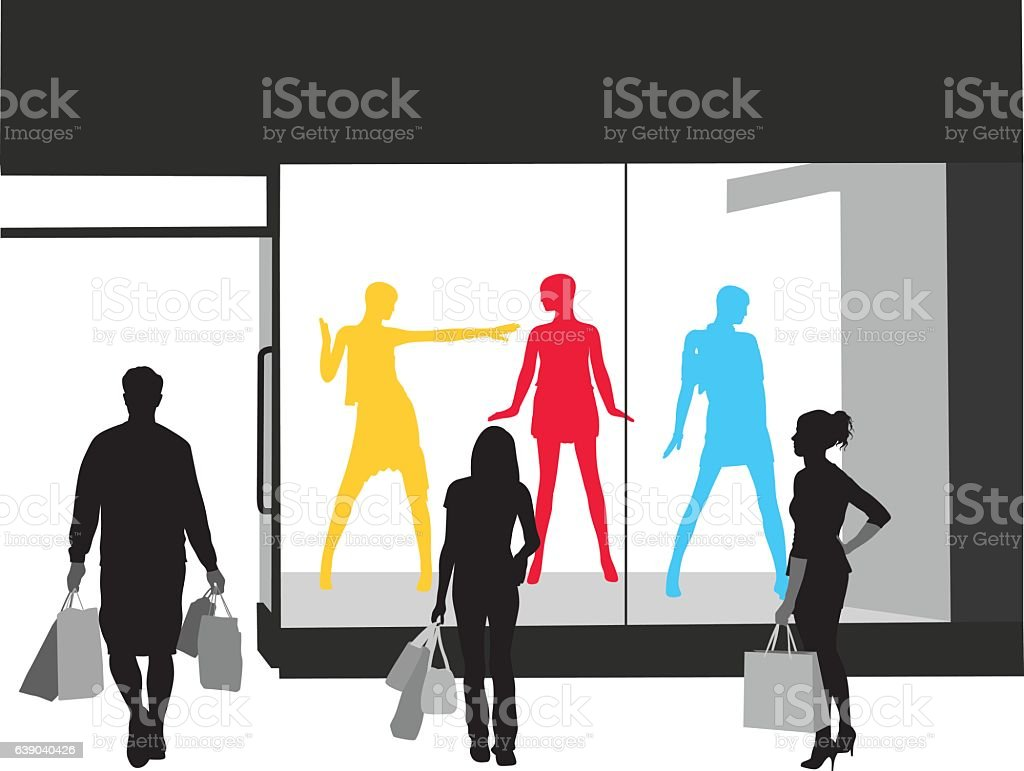 Newest Fashion Store Vector Silhouette vector art illustration