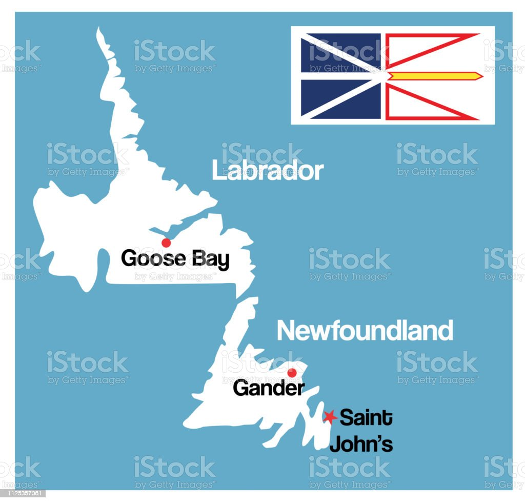 Newfoundland And Labrador Map Stock Illustration Download Image Now Istock
