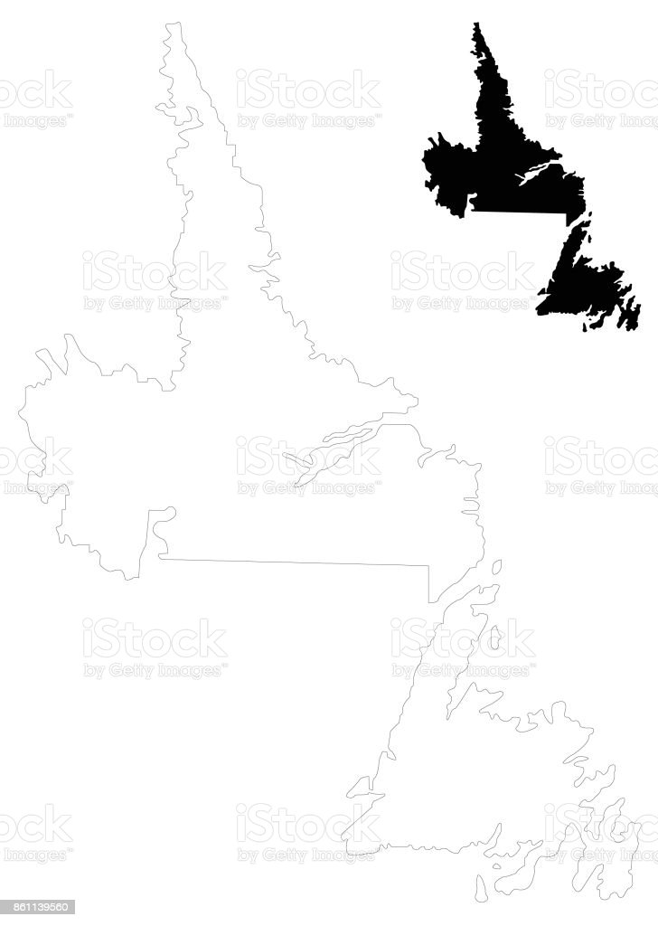 Picture of: Newfoundland And Labrador Map Stock Illustration Download Image Now Istock