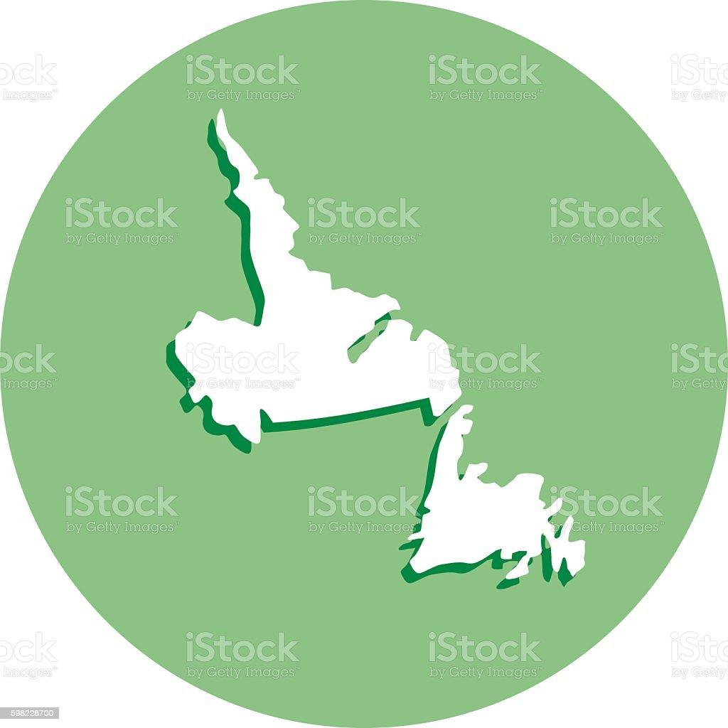 Newfoundland Round Map Icon ilustração de newfoundland round map icon e mais banco de imagens de canadá royalty-free