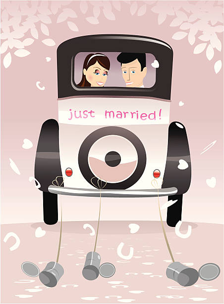 Just Married Clip Art, Vector Images & Illustrations
