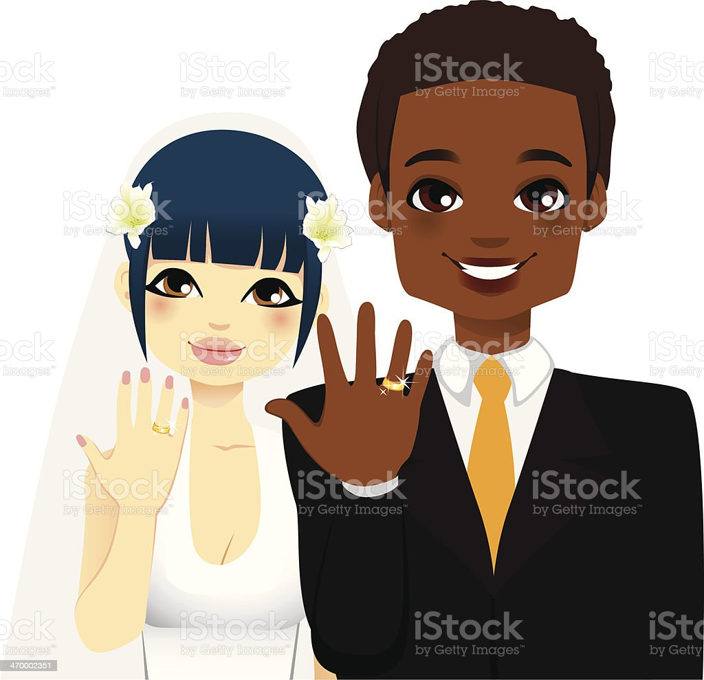 Newlywed Couple Rings royalty-free newlywed couple rings stock vector art & more images of adult