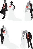 Newlywed couple with bouquethttp://www.twodozendesign.info/i/1.png