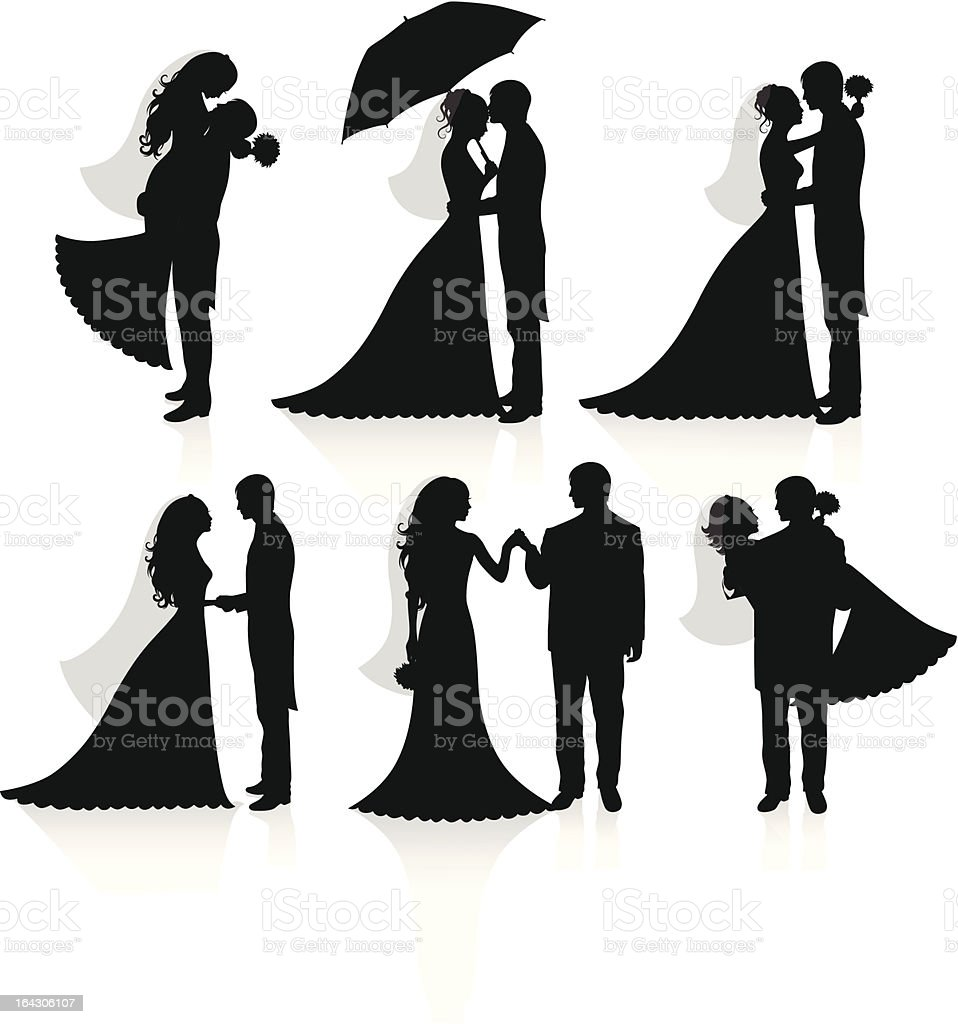 Newlywed. vector art illustration