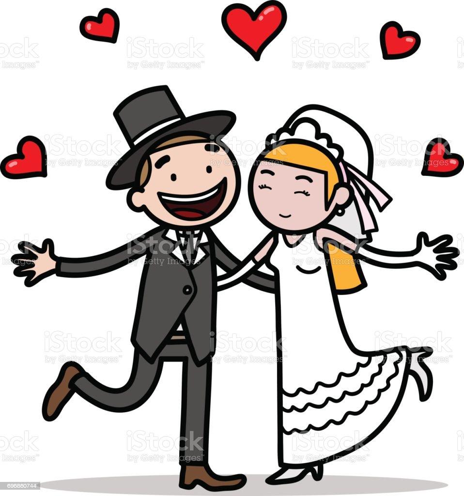 Brautpaar Hochzeit Stock Vektor Art Und Mehr Bilder Von Braut