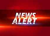news alert concept graphic design for tv news channels