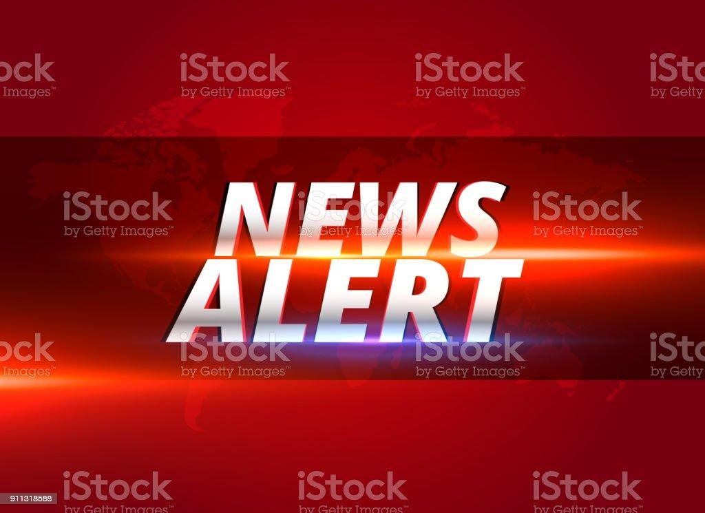 news alert concept graphic design for tv news channels vector art illustration