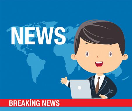 News anchorman header TV