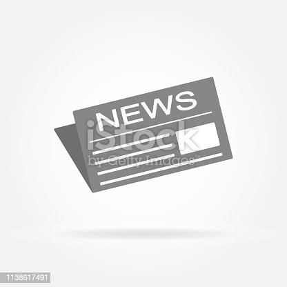 News and newspaper icon. Vector illustration.