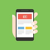 News app on smartphone